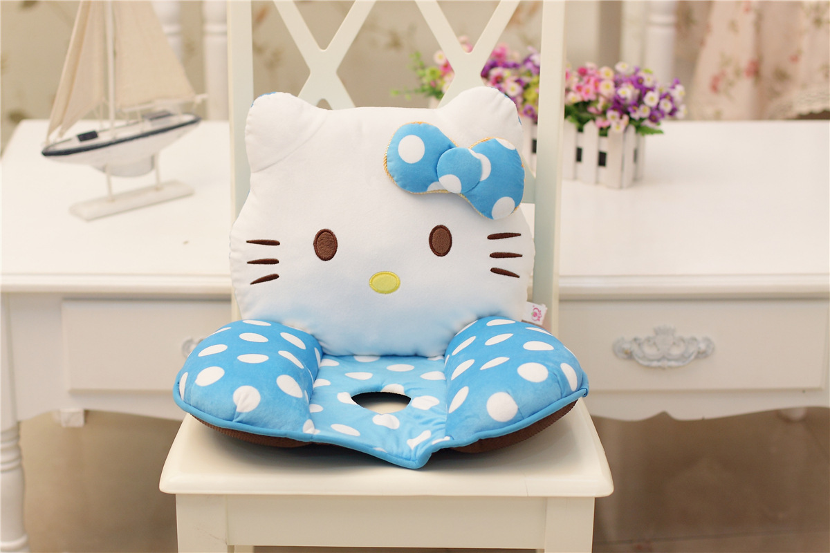 Cute hello kitty kt cat plush doll office nice bottom for Hip home decor