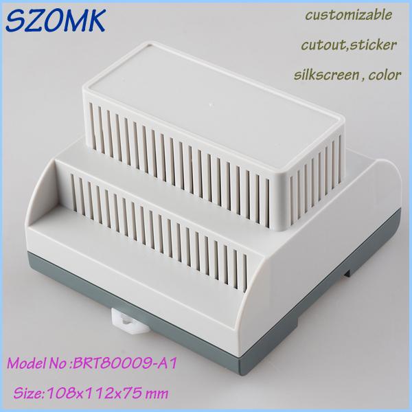 free shipping enclosure electronics din rail box (1 pcs) 108*112*75mm plastic junction box szomk electronical instrument case<br><br>Aliexpress