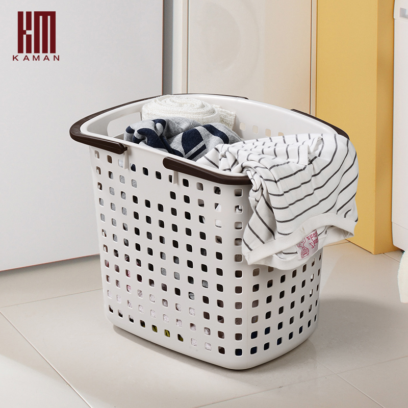 kaman plastic laundry basket large laundry basket dirty clothes instorage baskets from home. Black Bedroom Furniture Sets. Home Design Ideas