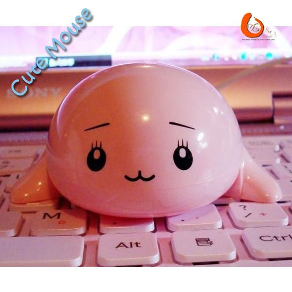 Hot Sale Pop Cute Little Dolphin / White Whale / Whale Type USB Cable Mouse Free Shipping(China (Mainland))
