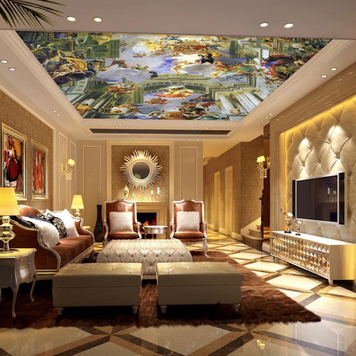 Decke Tapete Sternenhimmel : Sky Blue Living Room Ceiling Design