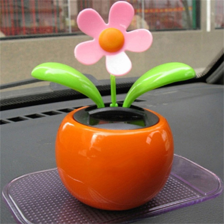 Home Decorating Solar Power Flower Plants Moving Dancing Flowerpot Swing Solar Car Toy Gift hot selling(China (Mainland))