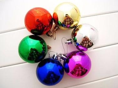 3CM Plastic Christmas ball ornaments bulk with Muti-color(China (Mainland))