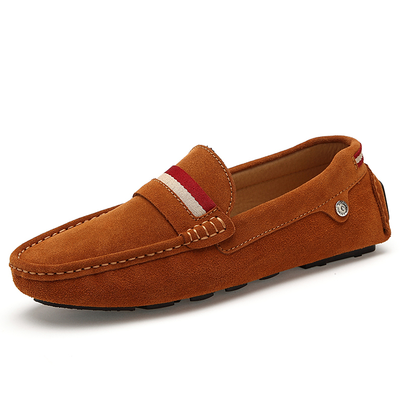 2015 new s dress shoes suede slip on flats dress loafer mocassin leather boat driving shoes