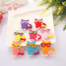 Buy 30pcs/8C Fashion Cute Bow Felt Cat Hairpins Solid Kawaii Candy Colors Animal Girls Hair Clips Kids Hair Accessories Headware for $21.68 in AliExpress store