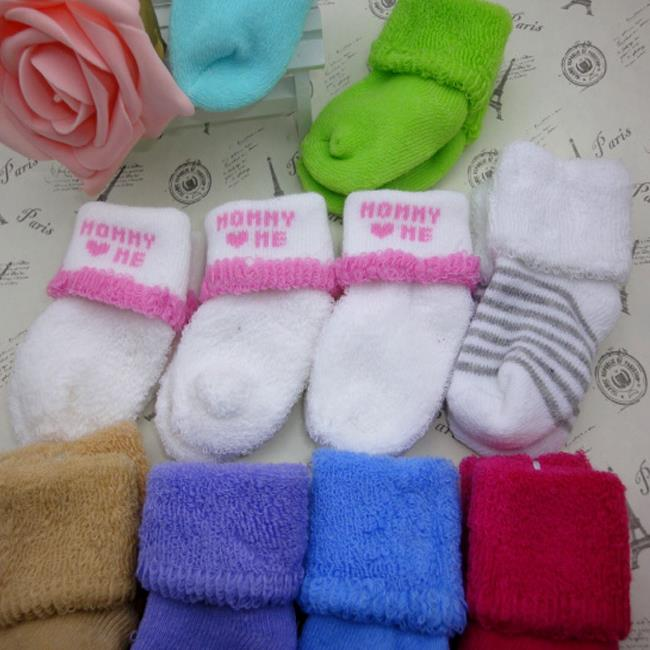 Baby Infants Toddler Boys Girls Thick Terry Cotton Autumn Winter Socks(China (Mainland))