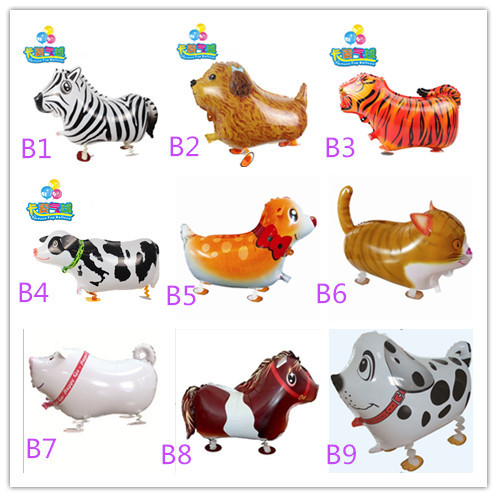 Hot Sale walking pet balloons animal balloon aluminum foil balloon animals Kids birthday party supply Inflatable classic toys(China (Mainland))