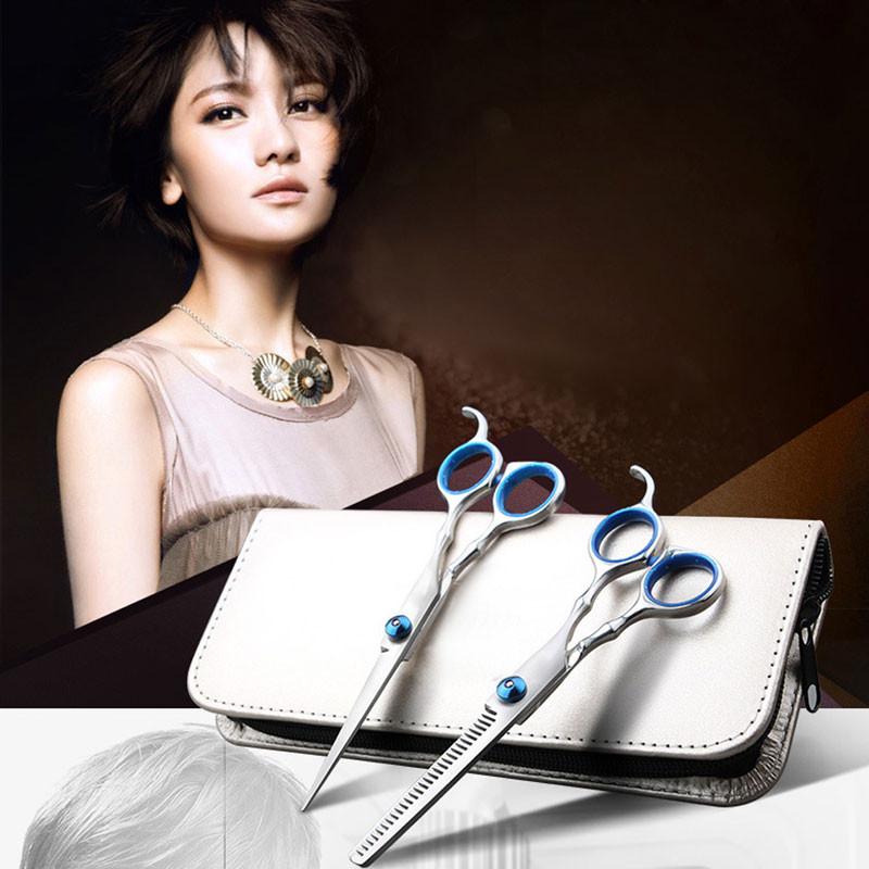 6 polegadas Ferramentas De Corte Barbeiro Tesoura de Cabeleireiro do Salão de Beleza Styling Ferramentas Profissionais de Cabeleireiro Tesoura Definir
