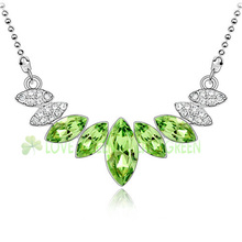 Free shipping women bridal Wholesales 18K gold palted Austria Crystal angel eye water drop Necklace fashion