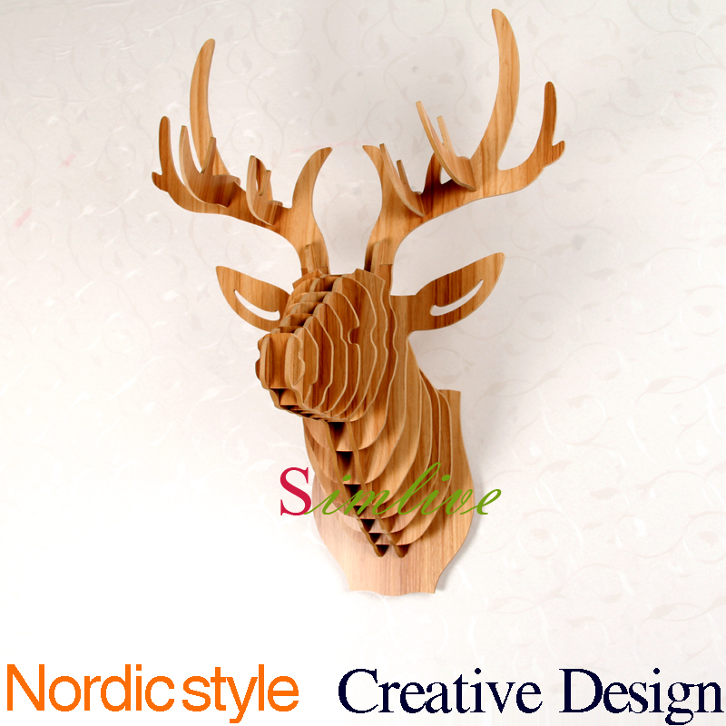 buy home decoration deer head of diy
