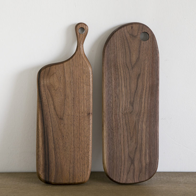 Black walnut handmade wood chopping block solid