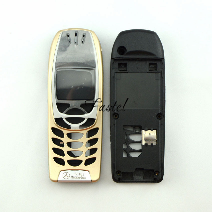 For Nokia 6310i Mercedes-Benz Logo Gold High Quality Brandnew Mobile Phone Housing Cover Case (No Keypad) + Tools Free shipping(China (Mainland))