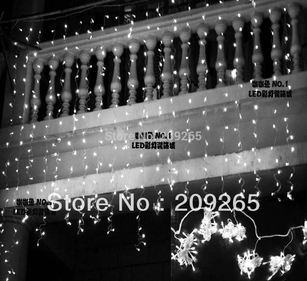 LED light flashing lane LED String lamps curtain icicle Christmas festival lights 110v-220v EU UK US AU plug 8mode 3*3 m 400 Led(China (Mainland))