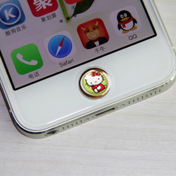 home button sticker for APPLE iPhone Touch diy phone decoration( 330 piece different color ) Free shipping
