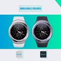 Free Shipping Smartwatch IPS Round Screen Bluetooth Heart Rate Monitor Support SIM Card