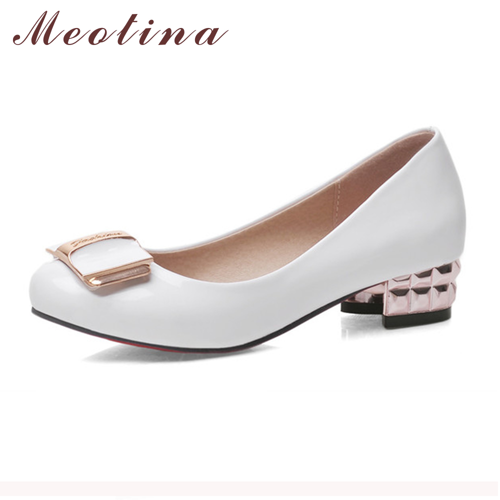 Online Buy Wholesale low heel white pumps size 10 from China low ...