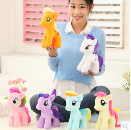 15CM Cute Stuffed Animals Plush Horse 6 Colors Selling Dolls Wedding Gifts Plush Toy Free Shipping(China (Mainland))