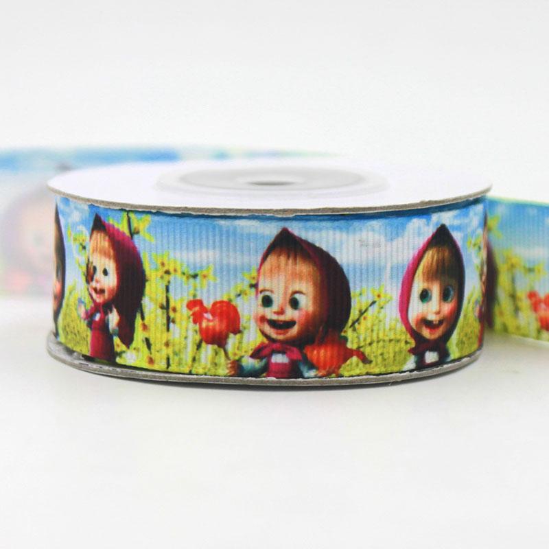 [IuBuFiGo] New 7/8' (22mm) cartoon ribbon high quality printed ribbon 10 yards DIY handmade wedding gift ribbons(China (Mainland))