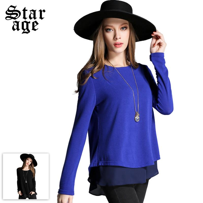 .com : Buy L 5XL Women Big Size Knitted Blouses Shirts Plus Size ...