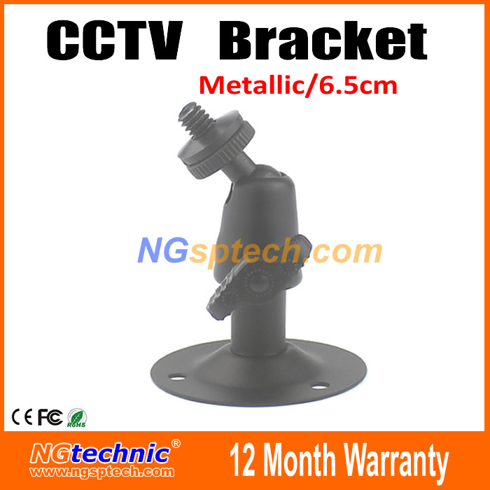 Free Shipping CCTV Camera Accessories Mini CCTV Camera Bracket Metallic Adjustable 360 degree Gimbal Bracket Indoor/Outdoor(China (Mainland))