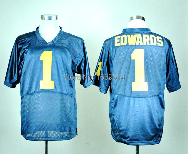 Best Seller Low Price Men's NCAA College Football Jersey Michigan Wolverines #1 Braylon Edwards Jersey ,Fast Free Shipping(China (Mainland))