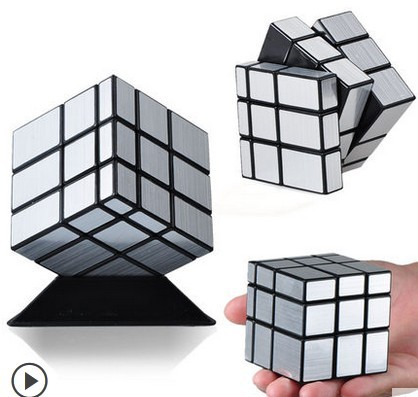 Authentic master abnormity 3x3x3 magic cube third-order drawing mirror professional game Fancy magic cube toy for children(China (Mainland))
