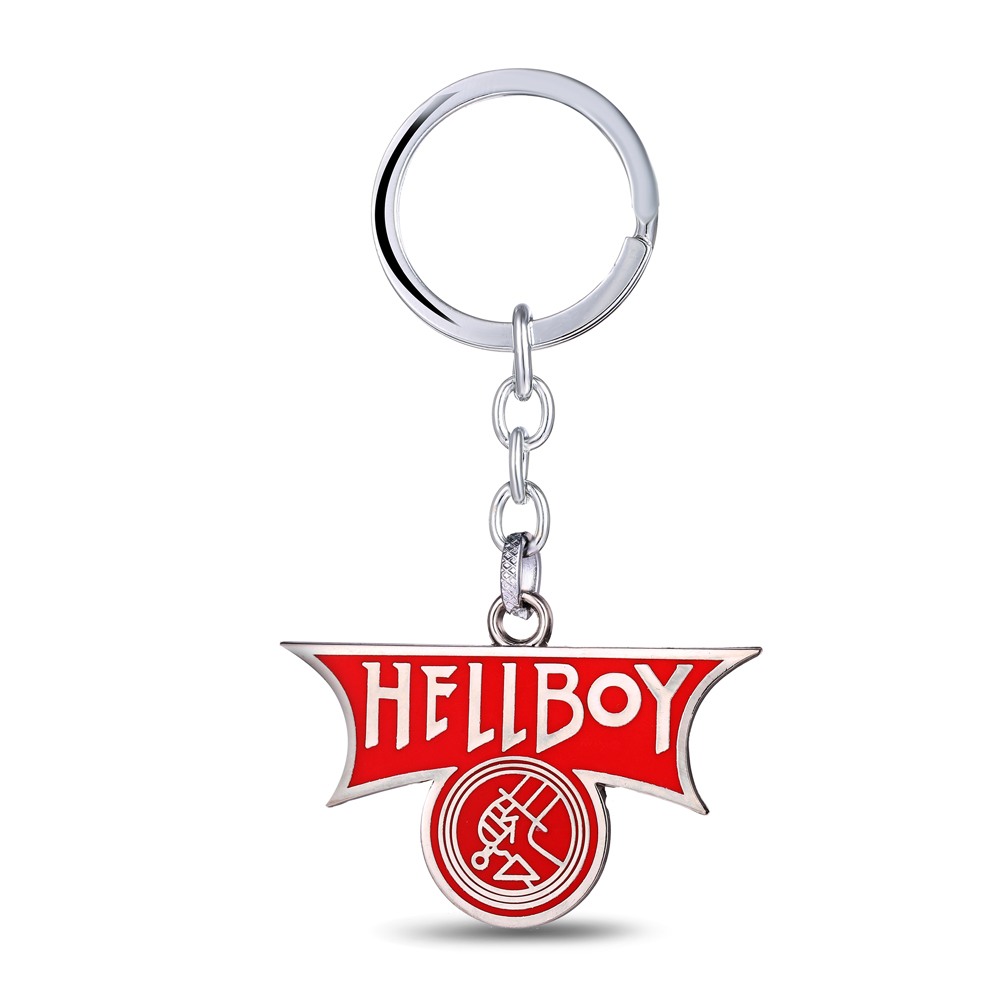 NEW Jewelry Hot Movie HellBoy Alloy Cool Key Chain Red Fashion Movie Fans Women&Men HellBoy Marks High-quality Unique Key Chain(China (Mainland))