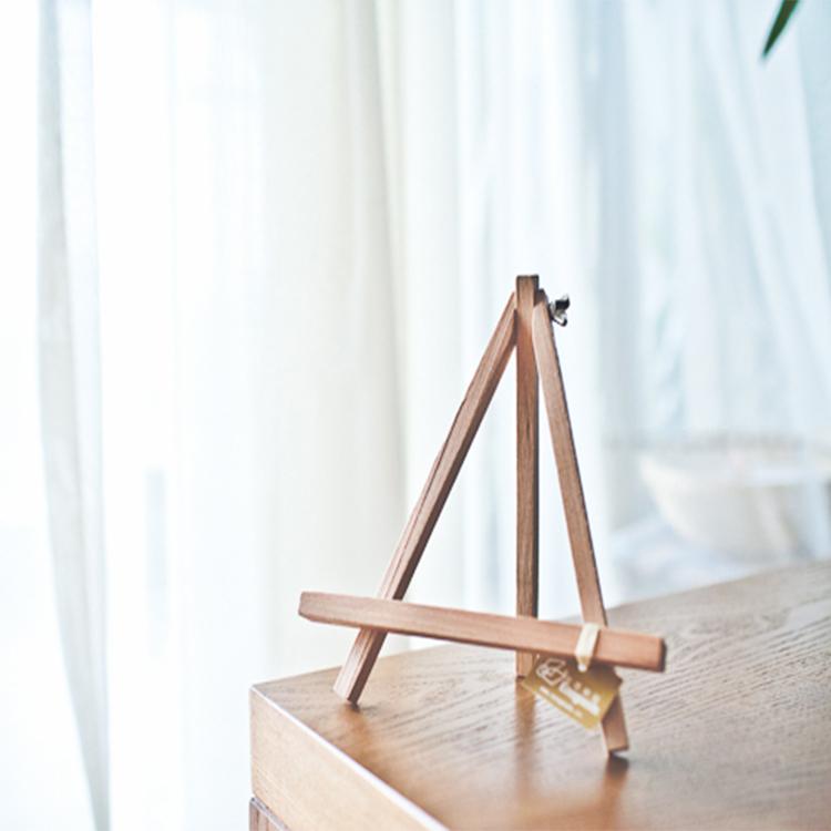 Wooden Photo Frame/Creative Home Desktop decor Tripod phone holder / photo frame rack/Postcards display stand/adjustable angle(China (Mainland))