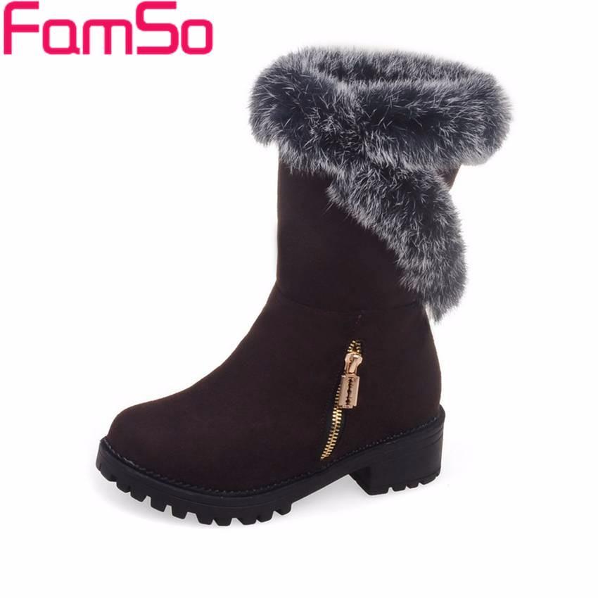 ซื้อ ขนาดบวก34-42 2016ใหม่R Etroผู้หญิงบู๊ทสีดำสีแดงออกแบบรองเท้าที่ทำจากขนสัตว์ออกแบบฤดูหนาวที่อบอุ่นขนหิมะรองเท้าSBT3931