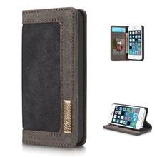 Luxury Case for iPhone 5 5S Se Case Wallet Flip Mobile Phone Bag Cover Cases Cowboy Jean Canvas Case for iPhone 5 5S Se Coque