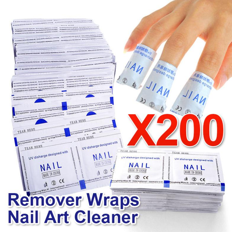 Elite99 New 2015 Professional Manicure 200 Pcs Gel Polish Remover Wipes High Quality Nail Gel Polish Nail Art Cleaner(China (Mainland))
