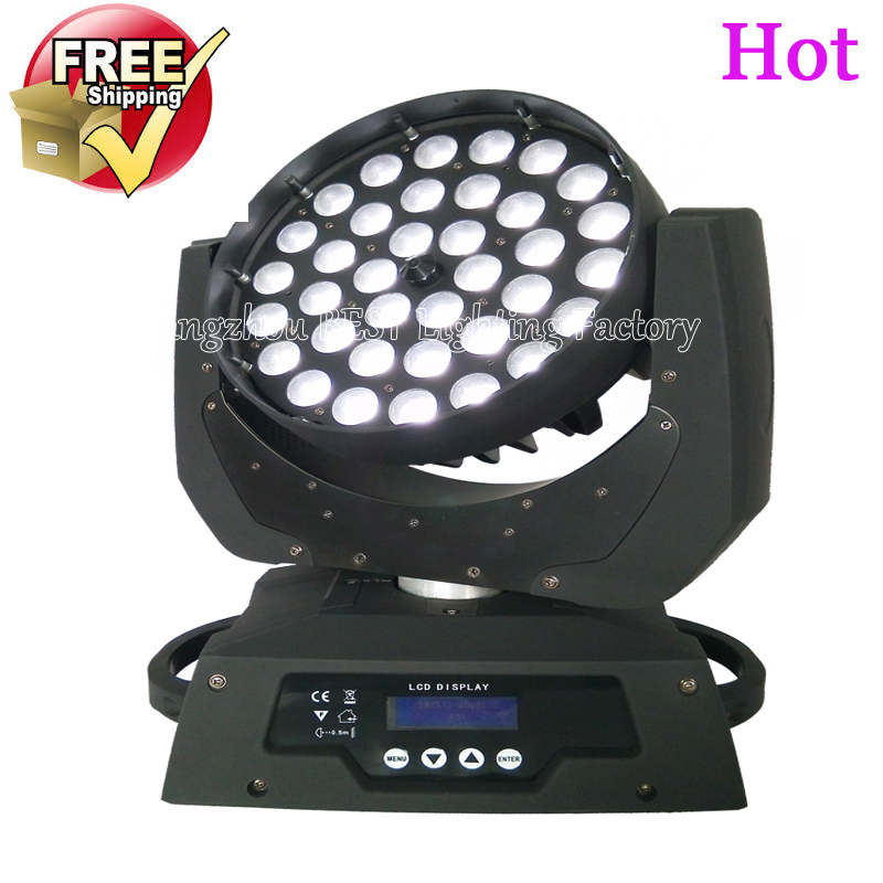 free shipping led wash zoom moving head light 36x12w rgbw 4in1 dmx stage light wash moving heads(China (Mainland))