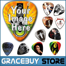 Custom Personalized Guitar Picks Print Your Own Design Logo or Sign Name on ABS Picks Make Printed Customized Guitar Picks(China (Mainland))