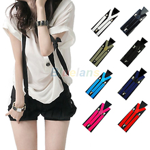 1PC New Mens Womens Unisex Clip-on Suspenders Elastic Y-Shape Adjustable Braces  00MK(China (Mainland))