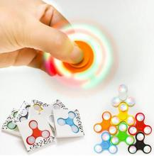 Buy 50PCS/Lot Fidget Hand Finger Spinner Retail Box 50pcs Lot DHL EDC Tri Finger Spinner Batman/Led/Glow Dark for $88.04 in AliExpress store