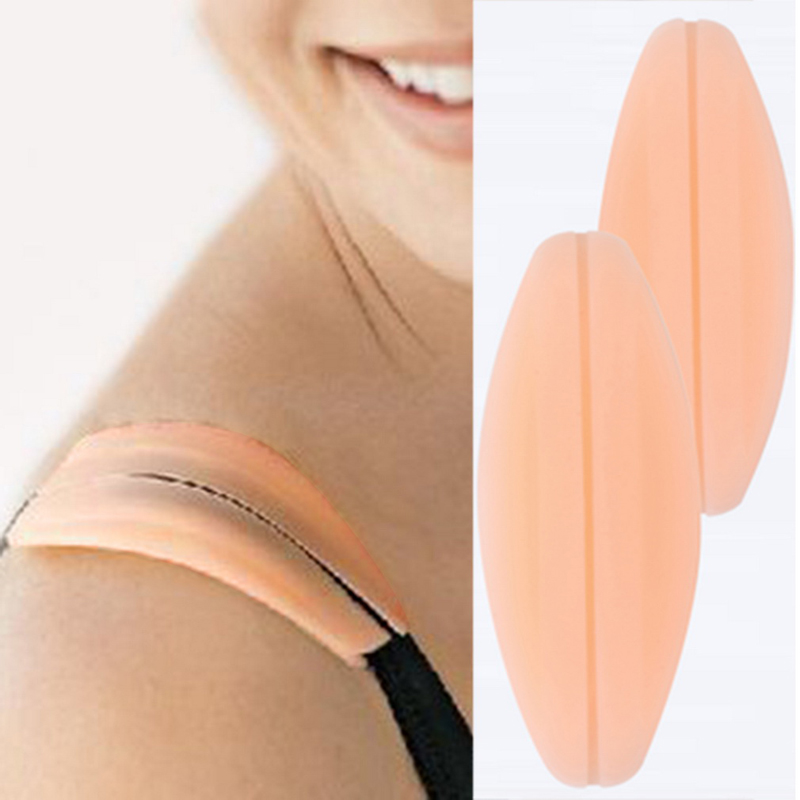 2Pcs/pair New Silicone Bra Extender Supple Texture Non-slip Shoulder Pads Bra Strap Cushions Holder Pain Relief Bra Accessories(China (Mainland))