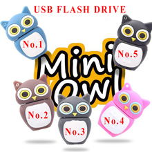 Novel lovely Owl USB Flash Drive Pen Drive 4GB 8GB 16GB 32GB memory stick USB 2.0 U disk(China (Mainland))