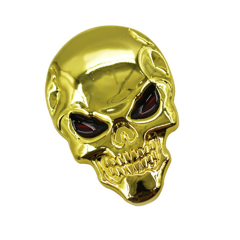 50 Pcs/Set Wholesale Zinc Alloy Car Styling 3D Universal Metal Skull Skeleton Automobile Badges Decorative Vinyl  Sticker Film<br><br>Aliexpress