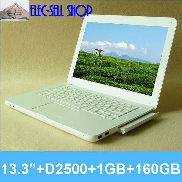 cheap laptop notebook New 13inch  wholesale L600 1GB/160GB with DVD burner Dual core Intel N2600  laptops with camera