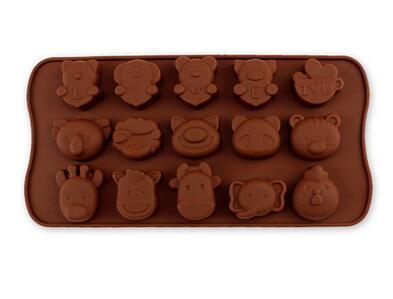 freeshipping 10pcs silicone cake mold 15 even LOVE cartoon animal shaped chocolate mold wholesale(China (Mainland))