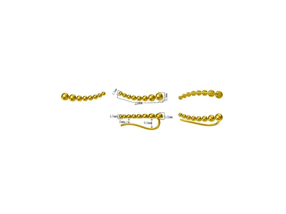 Sterling Silver Ball Long Ear Cuff, Long Silver Ear Clip, Minimalist Ear Sweep, Bar Earring, Bohemian Jewelry, Silver Ear Wrap<br><br>Aliexpress
