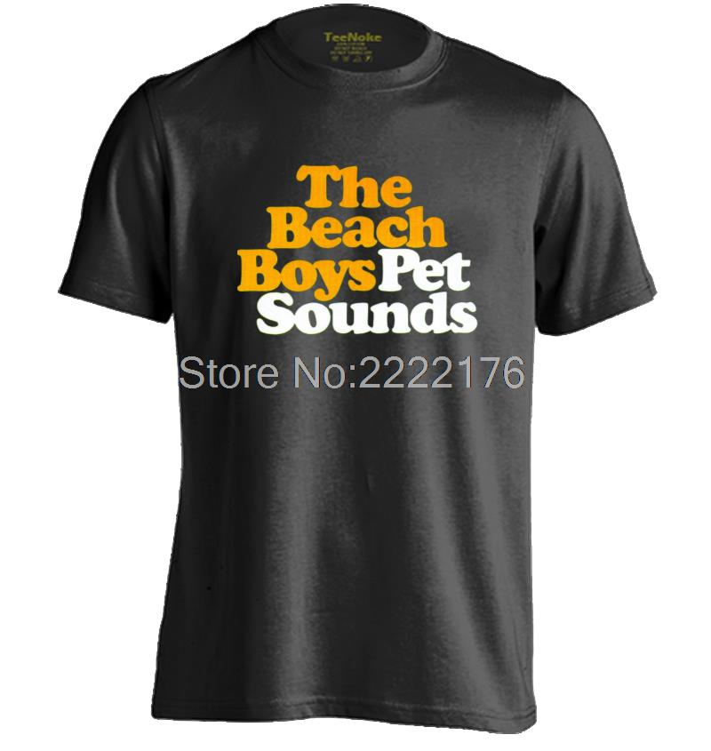 the beach boys Pet Sounds Mens & Womens Letters Printed T shirt(China (Mainland))