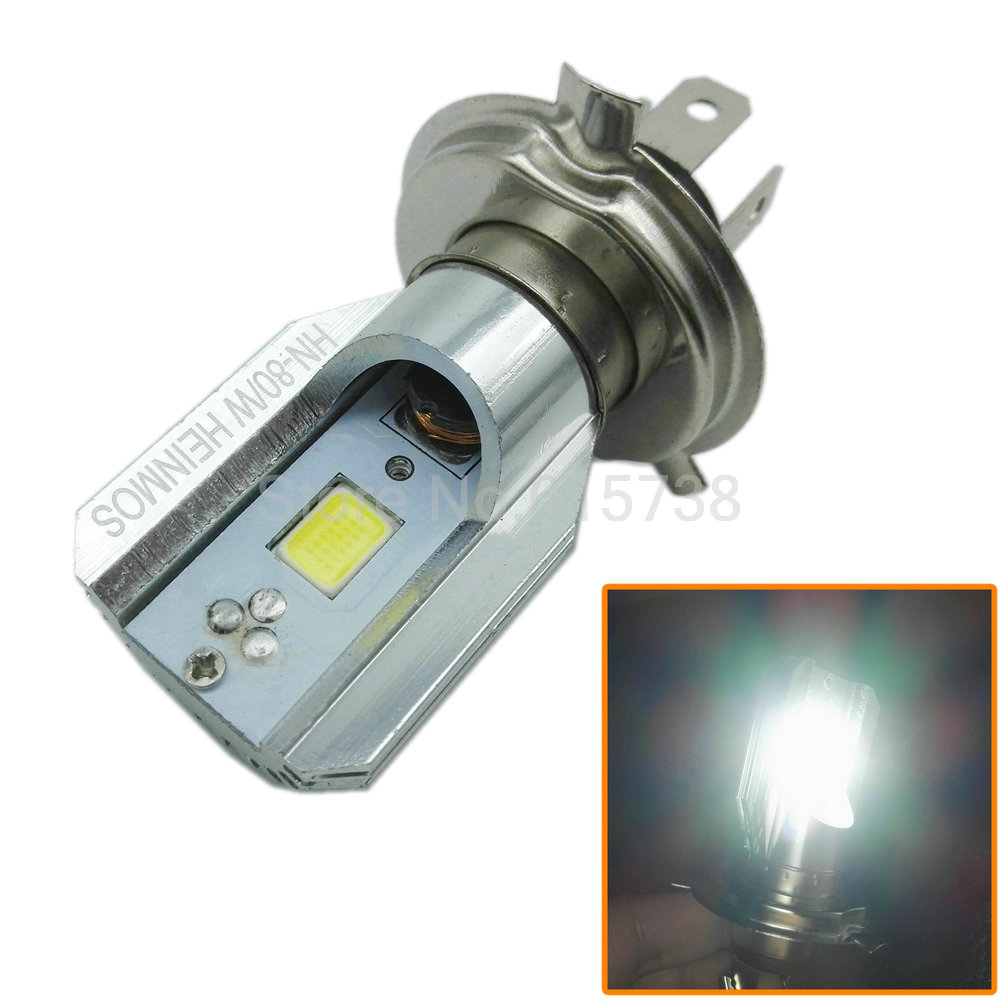 H6 Led Motorcycle Headlights Bulbs 6W 800LM H4 HS1 6000K Hi Lo Beam All In One lamp Scooter Headlight for Motorcycle(China (Mainland))