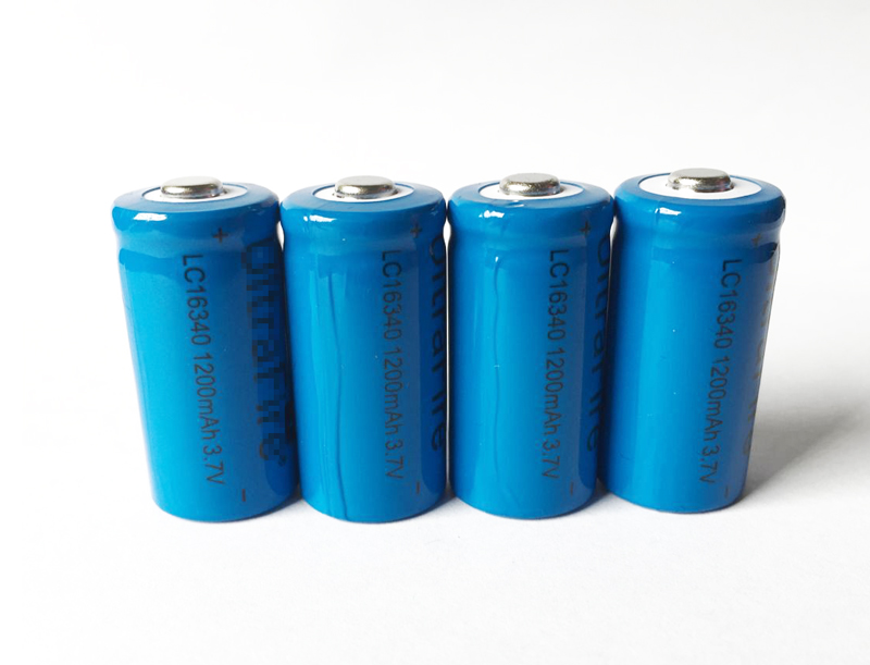 4PCS battery 16340mAh 3.7 V lithium Li-ion rechargeable batteries LED flashlight high capital 16340 battery free delivery(China (Mainland))