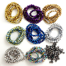 Buy 200pcs 4mm Bicone Crystal Glass Beads Loose Spacer DIY Jewelry Making for $1.25 in AliExpress store