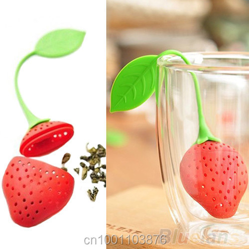 1 Silicone tea strainer personality hollow out Strawberry Design Loose Tea filter Strainer Herbal Spice Infuser Filter tea Tools  1 Silicone tea strainer personality hollow out Strawberry Design Loose Tea filter Strainer Herbal Spice Infuser Filter tea Tools