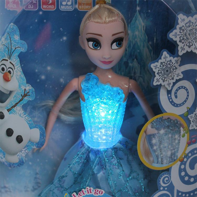 Hot sale Stock Elsa Doll Toys With Music Let it go And Glow We Have Youtube Video Kids Girl Learning Machine fashion doll elsa()