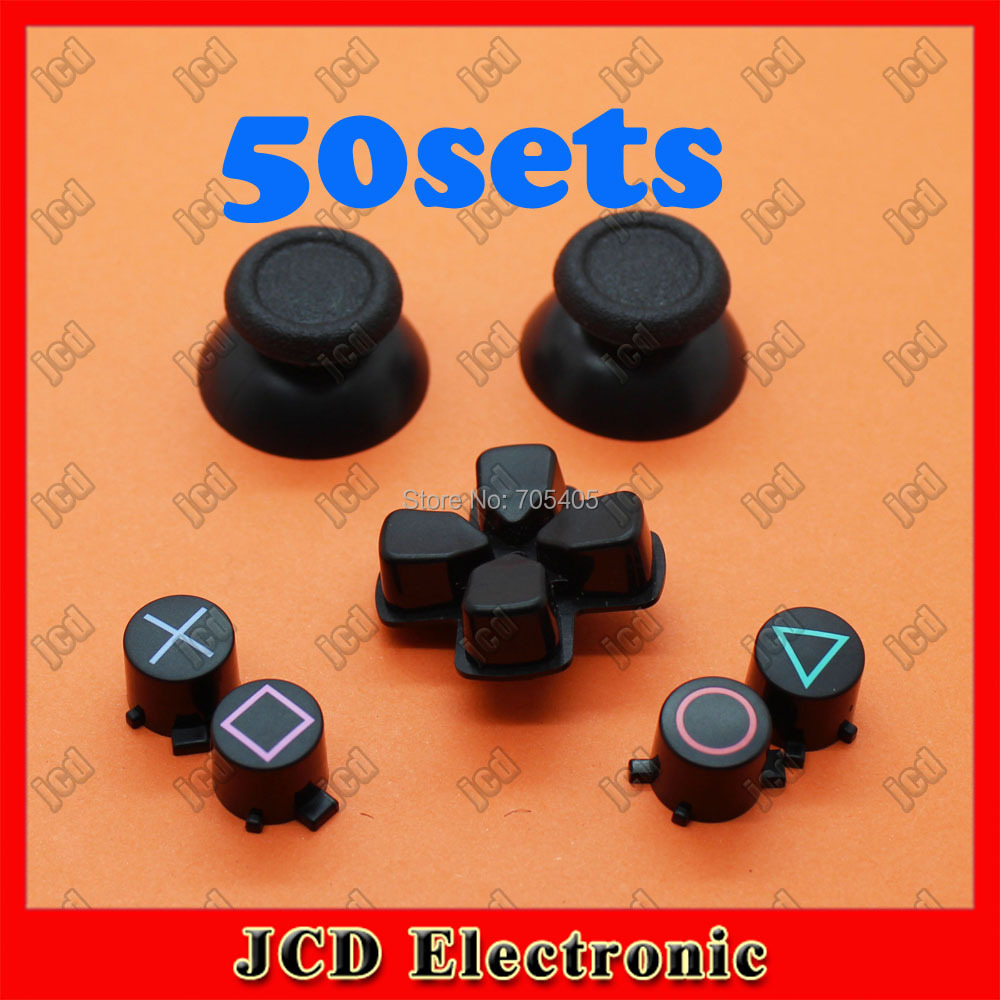 50sets Free shipping L2 R2 D pad thumbsticks cap full set buttons cross keys Replacement Parts For PS4 Playstation 4 controller<br><br>Aliexpress