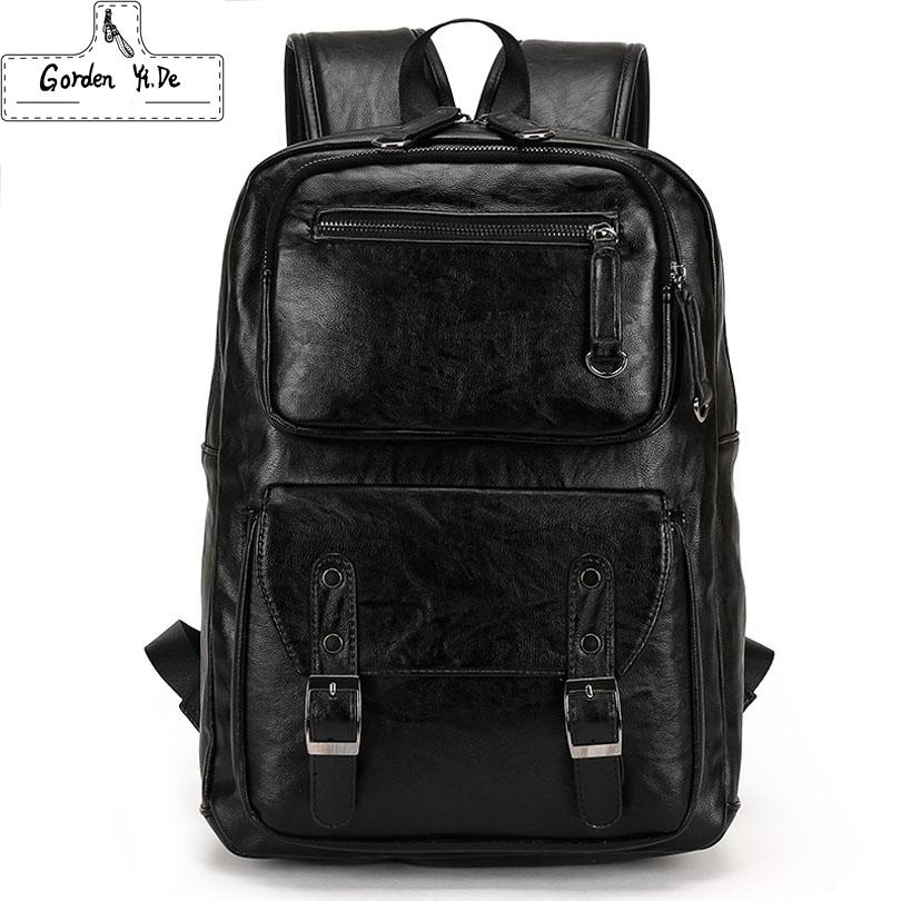 new Laptop Computer Notebook men Backpacks Brand Men's Backpacks Designer Travel Business leather men Backpack High Quality(China (Mainland))