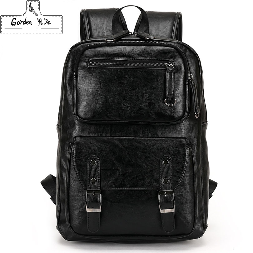 new Laptop Computer Notebook men Backpacks Brand Men's Backpacks Designer Travel Business leather men Backpack High Quality(China (Mainland))